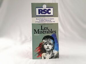 Les Misérables Premiere Leaflet - Barbican Theatre, London (1985)