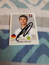 Panini Sticker EM 2016 signiert Thomas Müller DFB NEU