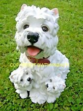 NEW RUBBER LATEX MOULD MOLD MOULDS MAKE LARGE GARDEN ORNAMENT WESTIE YORKIE DOG