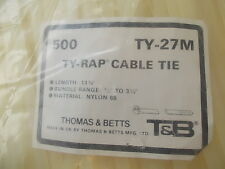 CABLE TIE TY-RAP, Price for Pack of 500 - TY27M Thomas & Betts