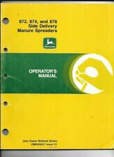 John Deere 872, 874, and 876 Side Delivery Manure Spreaders Operator's Manual