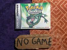 Pokemon Emerald GameBoy Advance, Just Manual