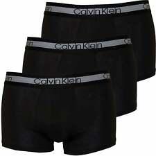 Calvin Klein 3-Pack Cooling Cotton Stretch Men's Boxer Trunks, Black