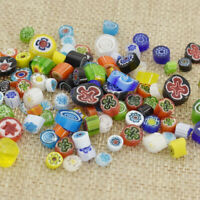 Millefiori Glass Beads Colorful Seed Flower Fusing DIY Jewelry Making Craft
