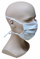 5 Stück Premium Mund Nase Stoff Maske 2-lagig Band zum binden waschbar HU-8205