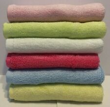 Pack of 4 100% Bamboo Baby Face Washers, Bath Towels, 25cm x 25cm