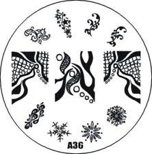 Stampingschablone A36, Kreise, French, Blumen Ranken, 11 Motive