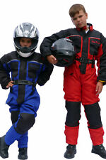 Kids One-Piece Biker Textile X-Tenda Motorcycle Suit Waterproof Red 6-7 Years