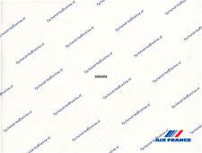 AIR FRANCE CONCORDE, PREMIERE, LE CLUB & BUSINESS CLASS BROCHURE, SEAT MAPS 1985