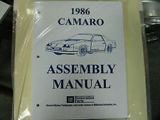 1986 CAMARO (ALL MODELS) ASSEMBLY MANUAL