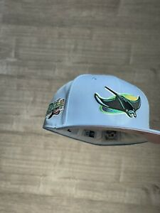 FITTED EXCLUSIVE HAT Tampa Bay Rays COTTON CANDY Size 7 NEW Brand PINKY Pink UV