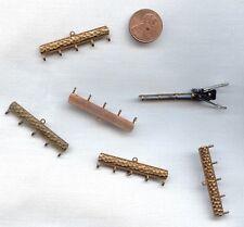 12 VINTAGE BRASS SNAKE SKIN DESIGN 5 HOOK TO 1 HOLE 40mm. CONNECTORS   D254