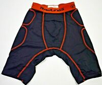 Rawlings Baseball Sliding Shorts, Black, Youth Large, Free Shipping!