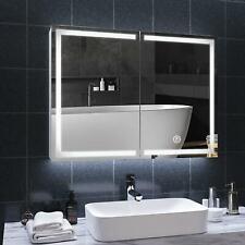 LED Spiegelschrank 2 tür Badezimmerspiegel Badschrank mit Beleuchtung Badspiegel