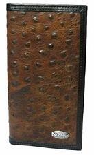 Nocona Western Mens Wallet Rodeo Ostrich Vintage Marble Brown N5487602