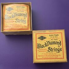 Vintage 1930s National string co Black Diamond Flat Wire Wound Gibson ES-300 125