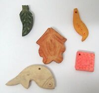 Carved Bone Beads Pendant Fish Shapes Many Colors 1/2 - 1 1/2 inches