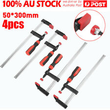 4PCS Adjustable F Type Clamp Wood Woodworking Clamp Clip Bar Clamp 50x300mm AU