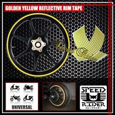 YELLOW REFLECTIVE RIM TAPE WHEEL STRIPE TRIM CAR BIKE BICYCLE DECAL 16 17 18 19