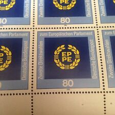 Germany Bundespost stamps;2 SHEETS MNH 1984 Election to the European Parliament