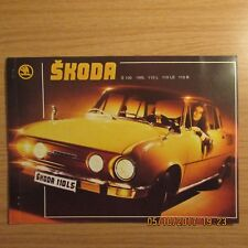 SKODA 100 100L 110LS 110R Coupe 2 Double Sided Car Sales Brochure Leaflet 1974