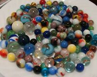 150 Marbles Modern Vintage Toys Games Shooters Swirls Cats Play Carnival Gift