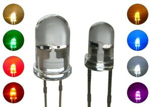 Flacker LED 3mm 5mm Flackerlicht Kerze Lagerfeuer Feuer LEDs Farben WÄHLBAR