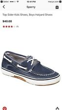 Sperry Boat Shoes, boys Halyard, gently used, Navy sz 1.5