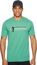 """New Travis mathew """"GOLF SUCKs"""" Green men's T shirt / round neck"""