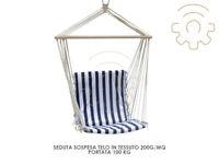 Seduta sedia altalena sospesa cm 100x50 dondolo per arredo giardino esterno