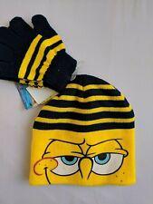 Sponge Bob Boys Winter Beanie Hat Knit Gloves Mitten Kids Gift Toy Toddler Baby