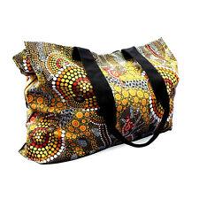 Australian Souvenir Large Canvas Shopping Bag 46cm X 35cm Kangaroo Ochre