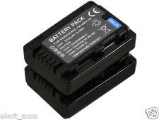2x VW-VBY100 Battery for Panasonic HC-V110 HC-V130 V110GK V110K V110P HC-V201 DV