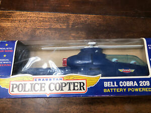 VINTAGE CRAGSTAN JAPAN BATTERY OPERATED BELL COBRA 209 POLICE HELICOPTER W20