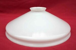 Vintage French Milk White Opaline Glass Ceiling Shade B