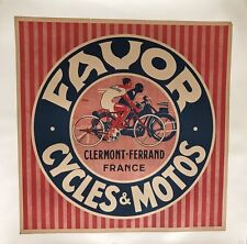 Original Vintage Poster FAVOR CYCLES & MOTOS by Jean PRUNIERE environ 1940