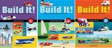 BUILD IT! THINGS THAT GO Lego Block Series by Jennifer Kemmeter PAPERBACKS 1-3