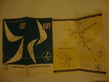 LOT POLISH AIRLINES TIMETABLE 1957-1958 MAP ROUTE DECK PLAN