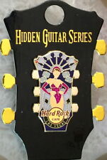 Hard Rock Cafe LAS VEGAS 2018 Hidden Guitar Series PIN on Guitar Head CARD LE200