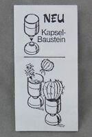 Überraschungsei Zettel von 1988 ca. 2,5 x 5 cm Neu Kapsel-Baustein Kaktus BPZ