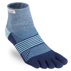 Injinji Womens Trail MidWeight Mini-Crew Running Toe Socks (Twilight)