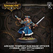 Warmachine PIP31061 cygnar arcane tempest gun mage officier-bnip