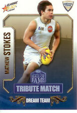 2008 Select AFL Classic HOF Tribute Match Card TM50 Matthew Stokes (Geelong)