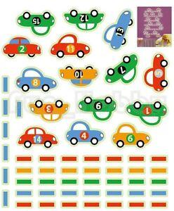 Glow Stickers Cute Cars Glow In The Dark Stickers Cute Carton Cars