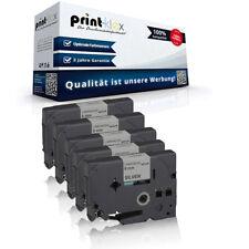 5x Extra kompatible Schriftbänder für Brother P-Touch 1000 F TZE241 Bes Color Pr
