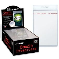 1 Box of 100 Ultra Pro Comic Book Preservers Storage Resealable Bags & Boards