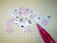 Miniature 52 Pick-Up!  Full Deck of Playing Cards RED for DOLLHOUSE 1/12 Scale
