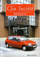 Prospectus   RENAULT     CLIO  SOCIETE   CONFORT   1996        Catalogue