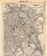 54 NANCY PLAN DE LA VILLE MAP IMAGE 1960