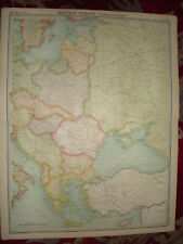 1920 LARGE MAP ~ EASTERN EUROPE POLITICAL 23 inch x 18